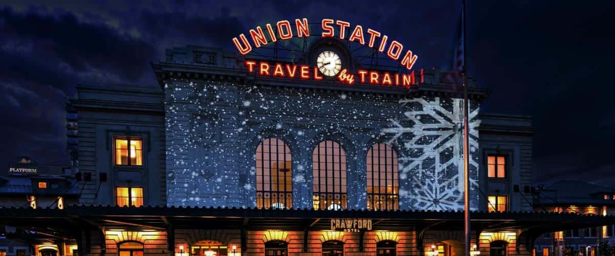 Union Station debuts Winter WonderLights, a free show synced with holiday tunes. Photo courtesy of Union Station