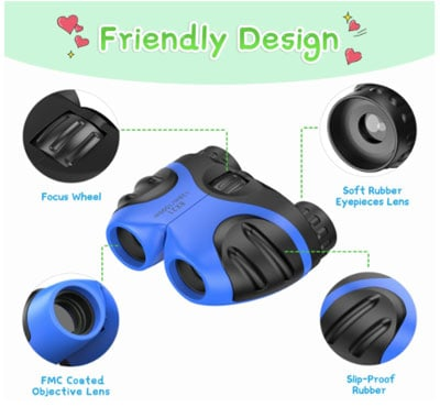 Rubber binoculars for kids