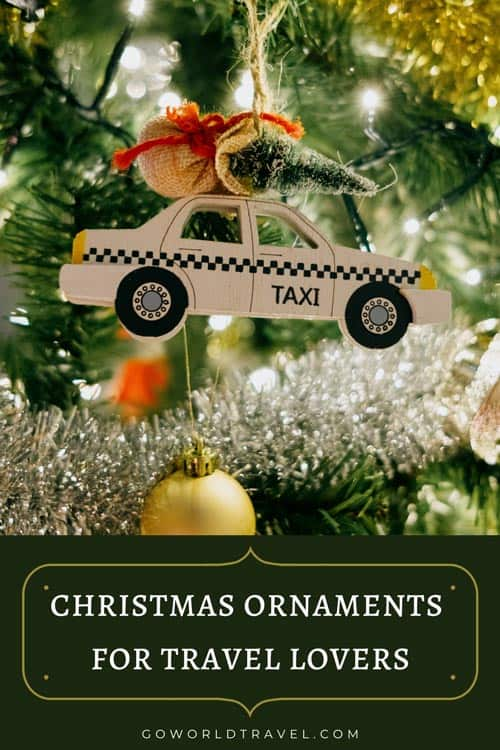 christmas ornaments for travel lovers