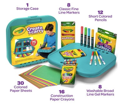 Crayola crate for art on the go