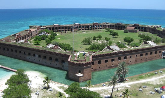 The walls of Dry Tortugas.