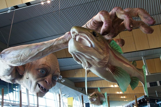Golem sculpture by WETA design team in Wellington airport
