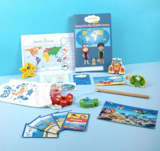A look at the World learning kit.