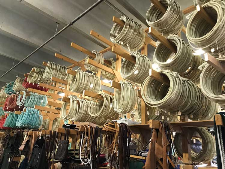 Ropes of all different sizes.