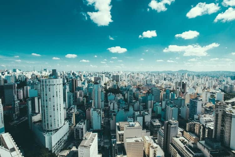 The huge metropolitan area of São Paulo.