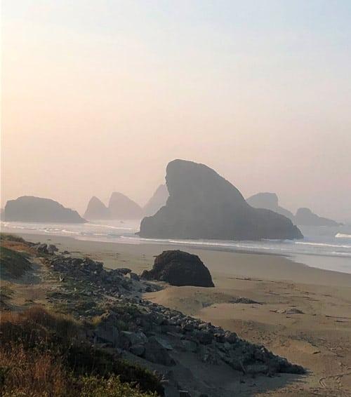 The Sea Stacks along the Oregon coast. Photo by Mari S. Gold
