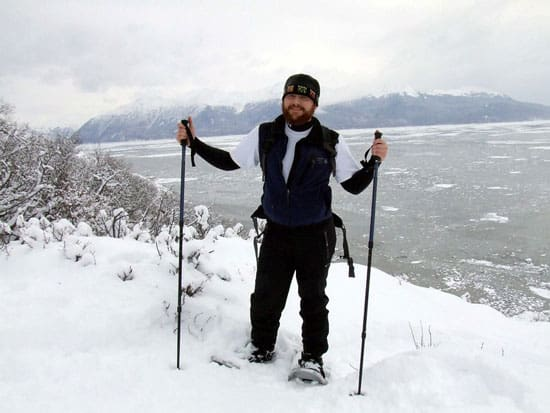 Snowshoeing on Turnagain Arm Trail