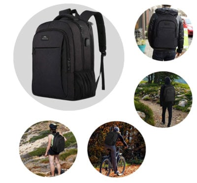 Keep your things safe anywhere you go with the travel backpack
