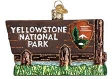 Yellowstone National Park christmas ornament