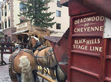 Stagecoach in Deadwood, South Dakota