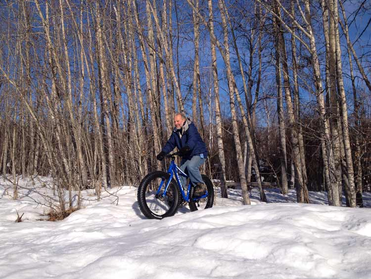 Fat-tire biking was invented in Fairbanks, adherents believe—and it's a fantastic wintertime sport.