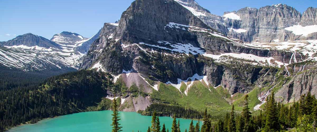 View of Glacier National Park in Montana