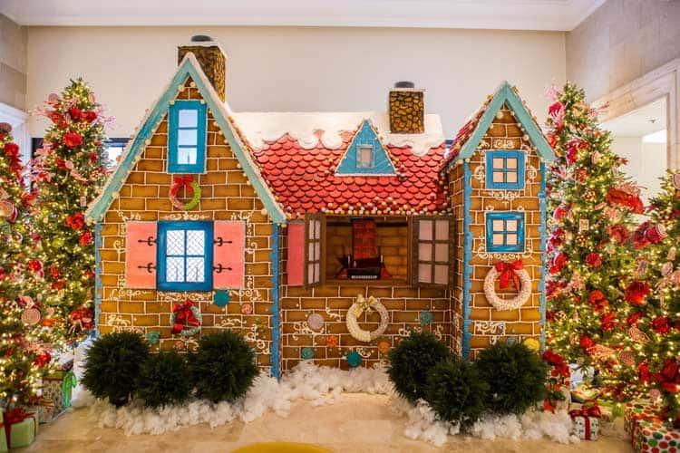 Grande Lakes life-size gingerbread house. Photo by Ritz-Carlton Grande Lakes