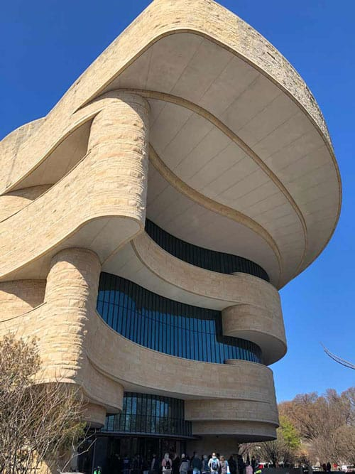 Outside view of National Museum of the American Indian in Washington, DC