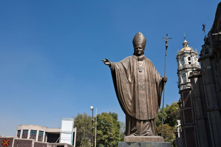A Statue of Pope John Paul II in Mexico City