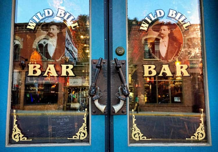 This is the bar on the site where Wild Bill was killed.