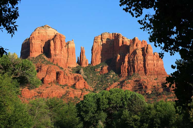 Red rock cliffs in Sedona, Arizona