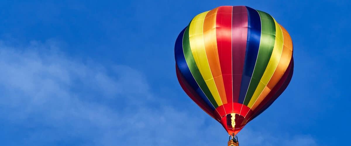 A hot air balloon ride in Traverse City, Michigan