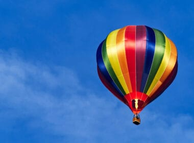 A hot air balloon ride in Traverse City, Michigan