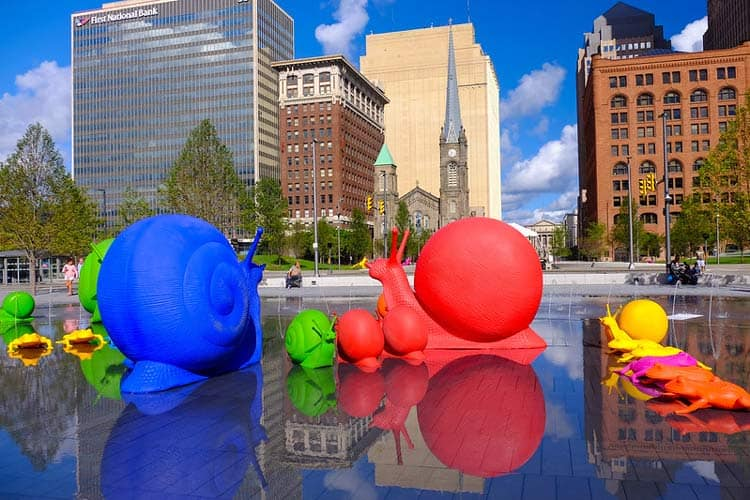 Art and fun in downtown Cleveland, Ohio