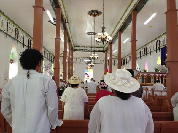 Cook Islands community church ceremony