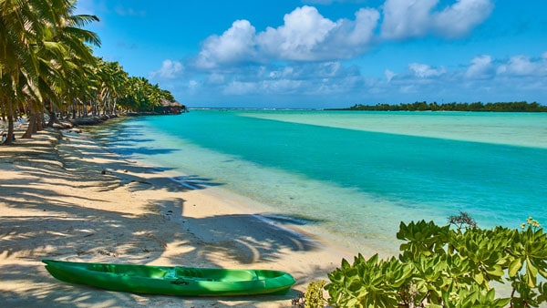 Ready to kayak around the Cook Islands.