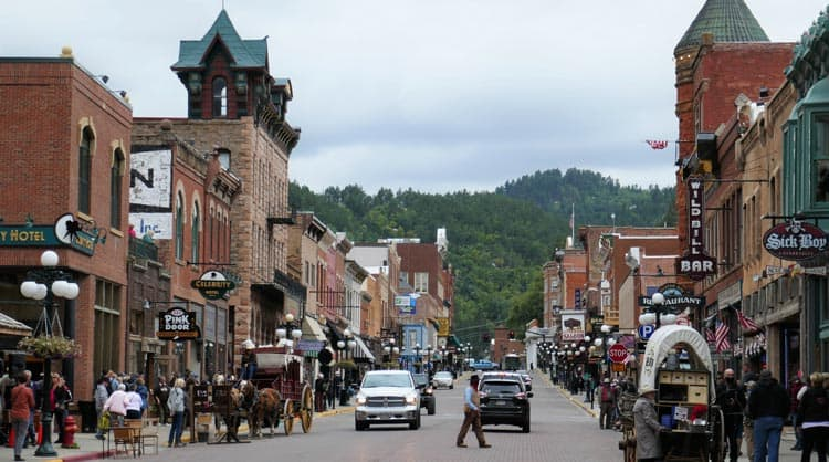 Deadwood on a Saturday afternoon is fun, crazy, and packed.