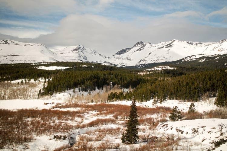 Snowy Glacier National Park in Montana