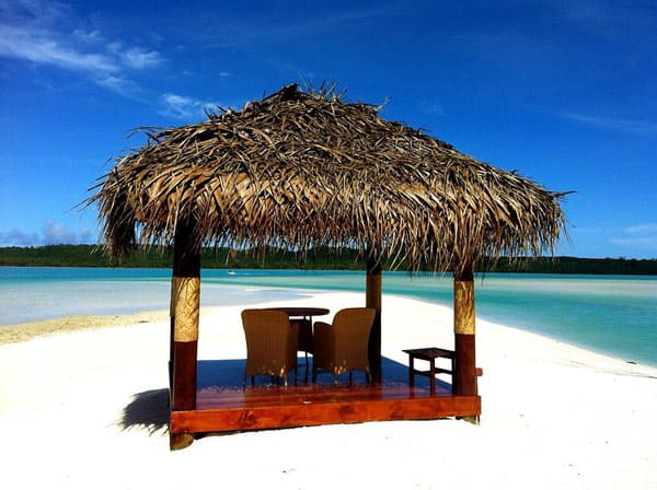 Resort hut on the beach