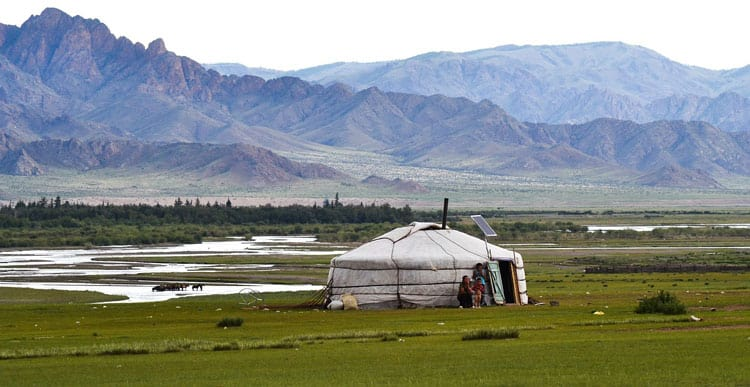 A solar powered yurt in Altai, Russia