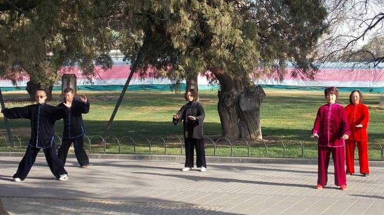 Amazing performance on the Temple of Heaven Park