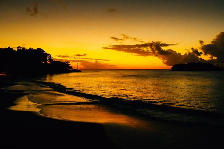 A beach in Saint Lucia