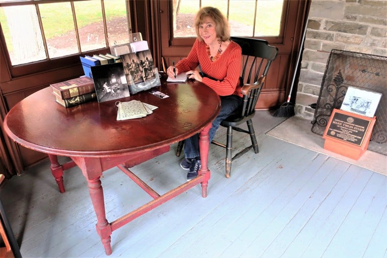Sitting at the desk in Mark Twains study in Elmira, NY was inspirational. Photo by Victor Block