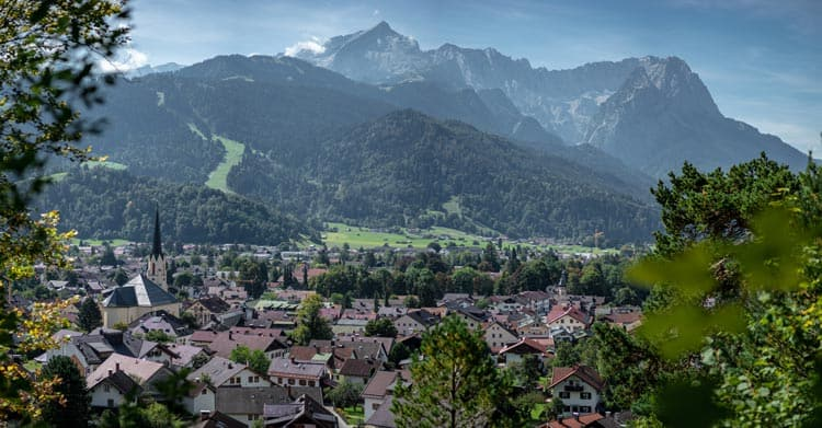 Mountain town of Garmisch-Partenkirchen