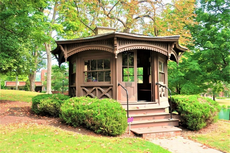 Mark Twain's original study on the Elmira College campus in upstate NY offers insight into the famous author .  Photo by Victor Block