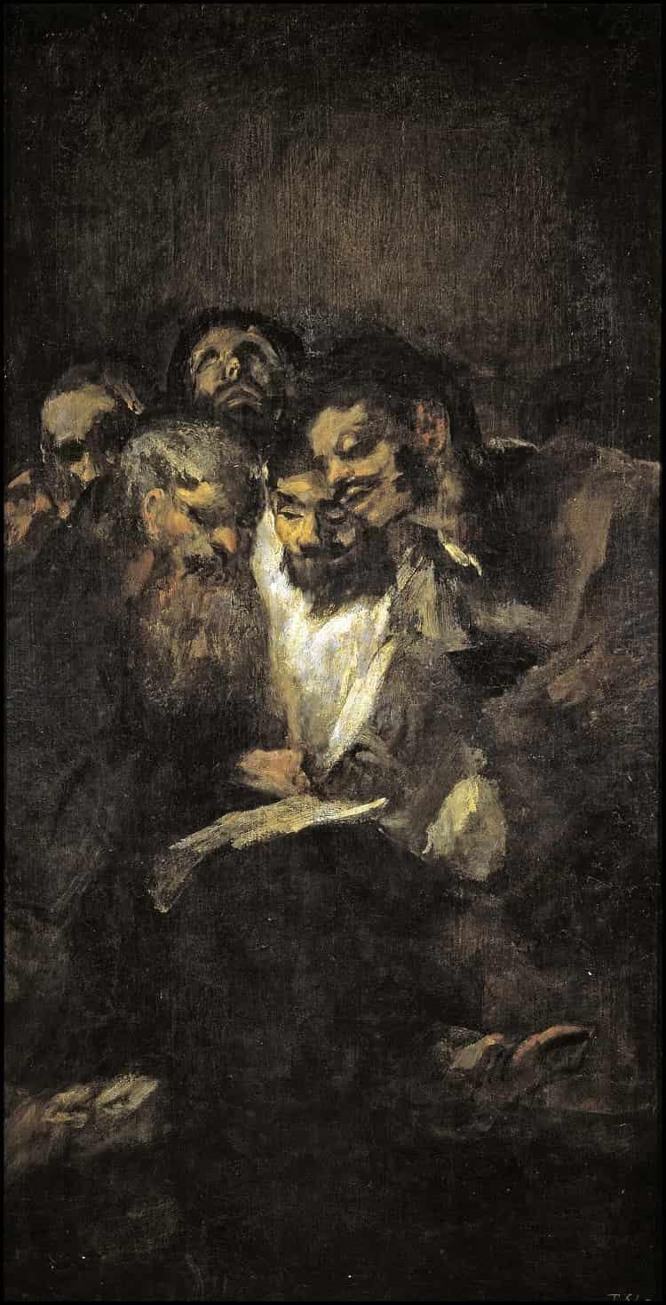 Men Reading by Goya at Museo del Prado in Spain