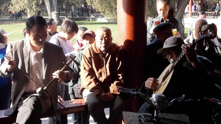 Musicians in Temple of Heaven Park