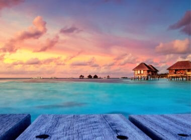 International travel for Americans ocean view at Maldives