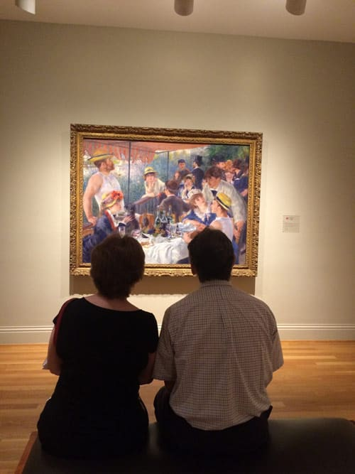 Admiring a painting at the Phillips Collection