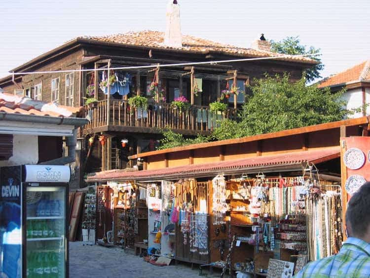 Shopping for souvenirs in Old Town Nessebar in Bulgaria. CC Image Courtesty of bulgariaseaview.com