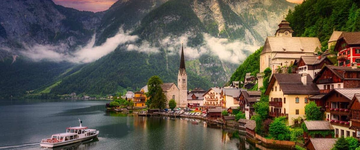 One of Europe's most romantic small towns is Hallstatt, Austria