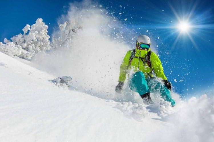 A person skiing Belleayre.