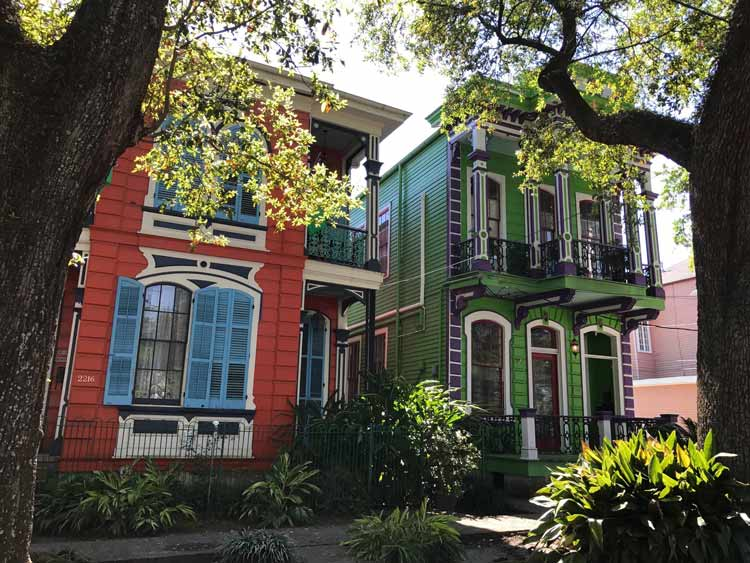 Two Spanish-style residences in New Orleans. Photo by Meryl Pearlstein