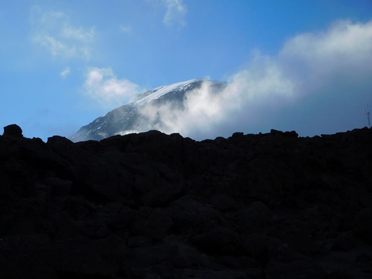 A view of the Mt. Kilimanjaro Summit. Photo by Tony Mangia