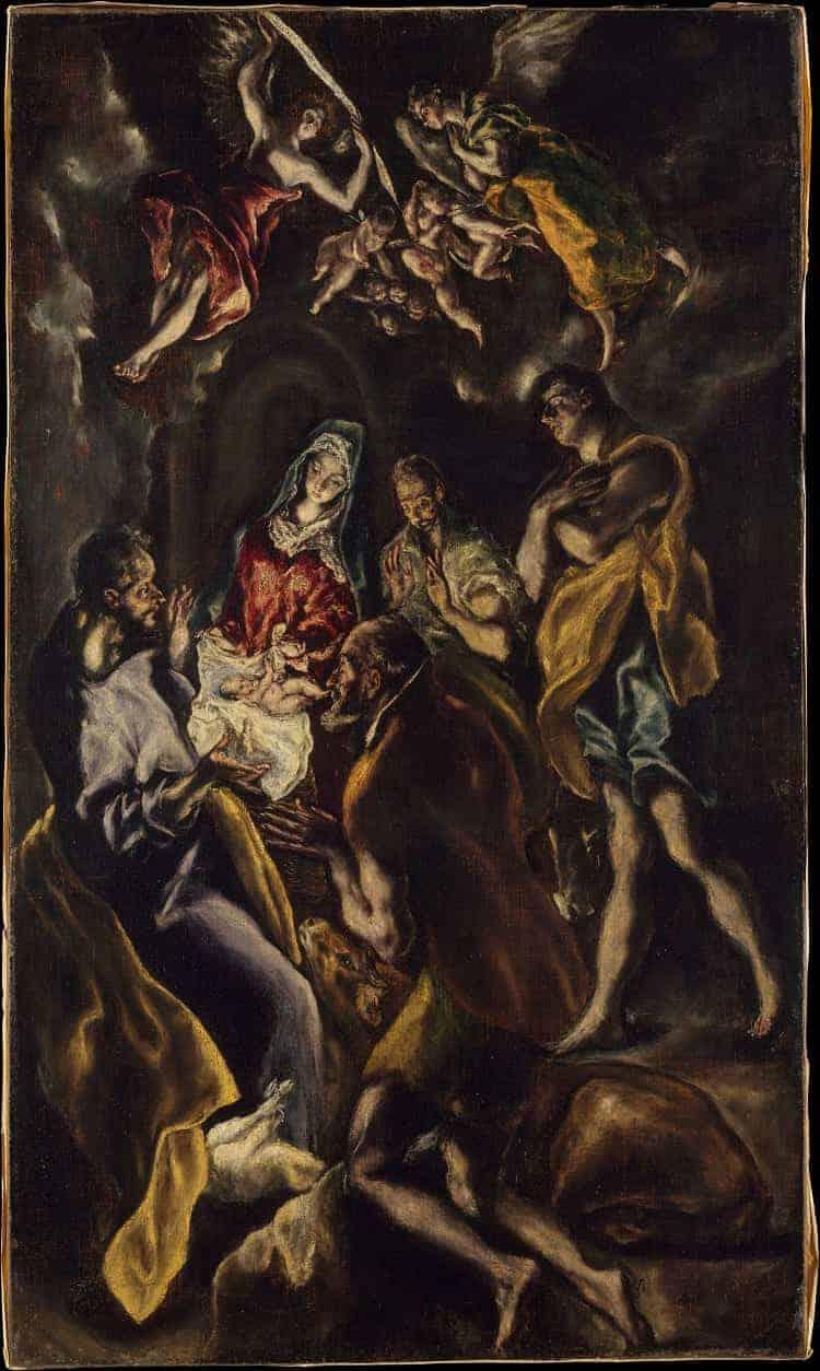 The Adoration of the Shepherds by El Greco at Museo del Prado