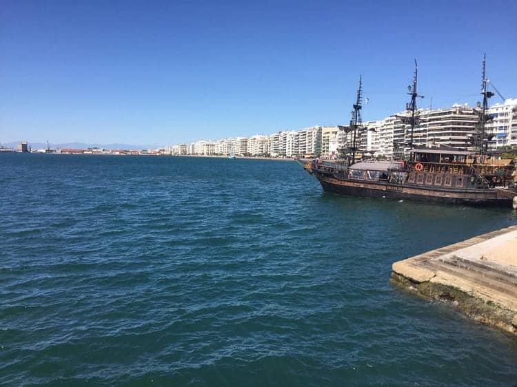 Thessaloniki bay in Greece