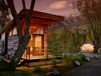 A Tiny house at Fireside Resort in Wyoming