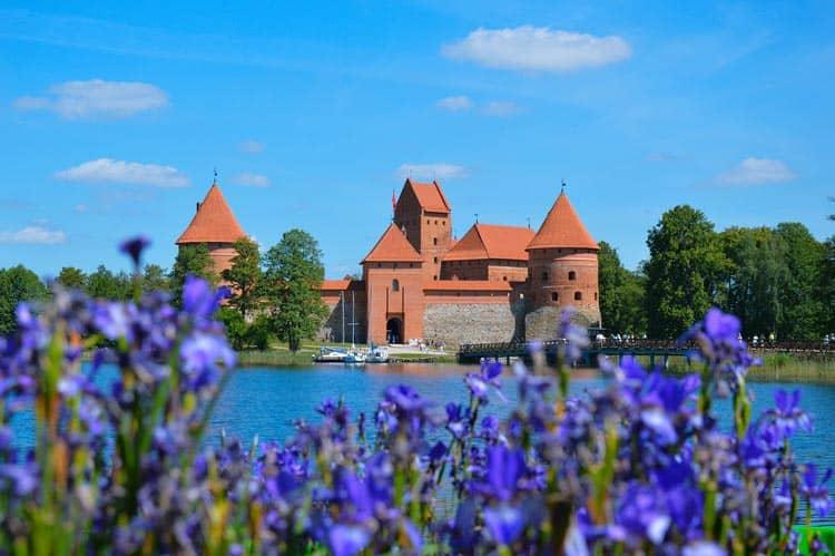 The famous Trakai Island Castle in Lithuania