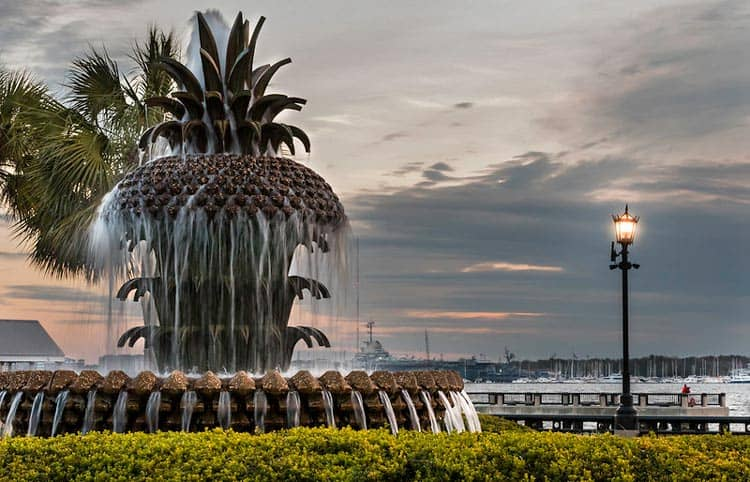 The pineapple fountain at Waterfront Park in Charleston, South Carolina will be a family favorite. CC Image by c_live_lee
