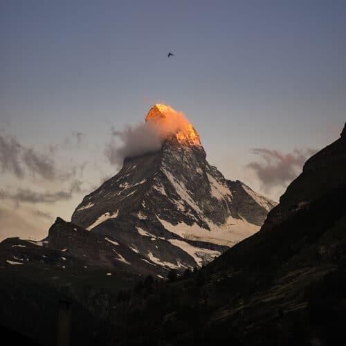 The small town of Zermatt, Switzerland has 124 miles of ski trails